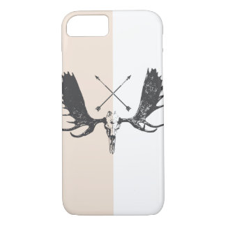Charcoal Moose Skull Art Hunter / Boho iPhone Case