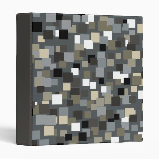 Charcoal Mosaic Squares Binder