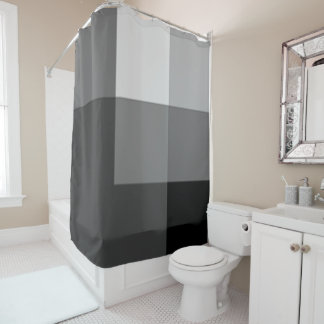Charcoal Multicolor Shower Curtain by Janz