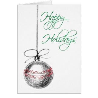 Charcoal Ornament Card