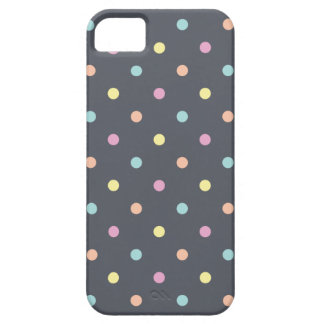 Charcoal Pastel Polka Dot iPhone 5 Case