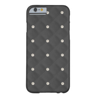 Charcoal Pearl Stud Quilted Barely There iPhone 6 Case