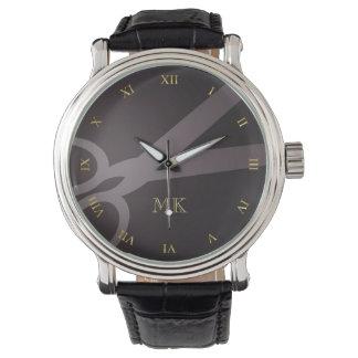 Charcoal Scissors & Monogram Watch
