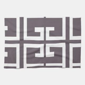 Charcoal Spanish Tile Kitchen Towel