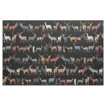 charcoal spice deer fabric