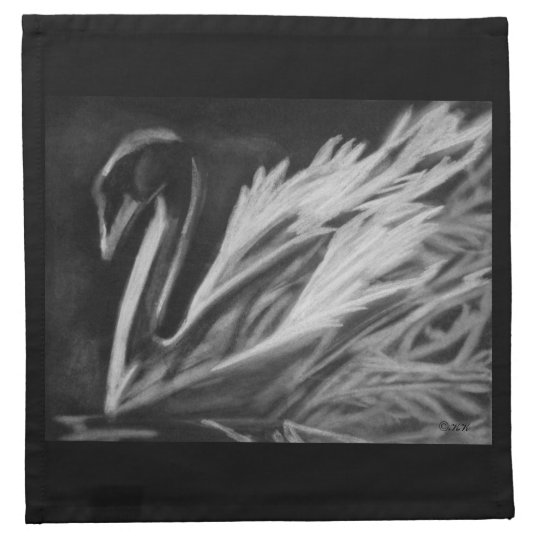Charcoal Swan Cloth Napkin