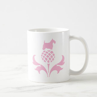 Chardon rose de Scottie Mug Blanc