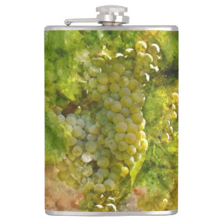 Chardonnay Grapes on the Vine Flask