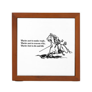 Charge of the Light Brigade Quote Illustration Desk Organizer
