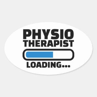 Chargement de physiothérapeute sticker ovale