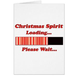 Chargement d'esprit de Noël Carte De Vœux