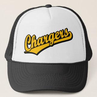 Chargers in Orange Trucker Hat