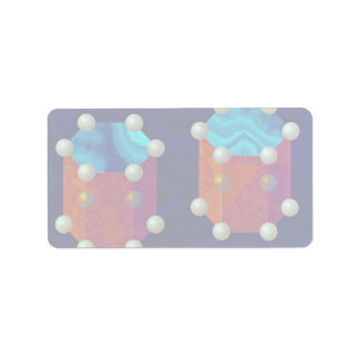 Charges on two hexagonal prisms Orbit Address Label
