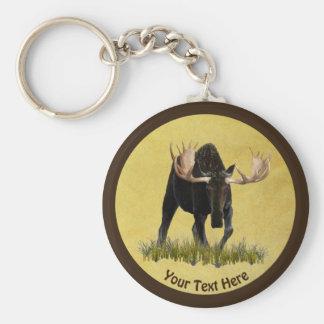 Charging Bull Moose Keychain