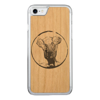 Charging Elephant by EKLEKTIX Carved iPhone 8/7 Case