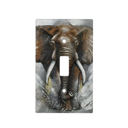 Charging Elephant Light Switch Cover