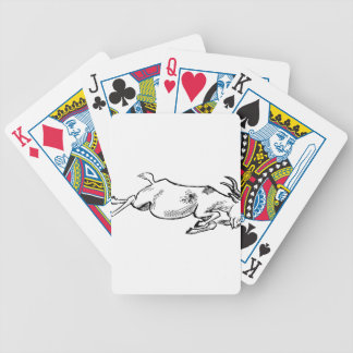 Charging Goat Bicycle Playing Cards