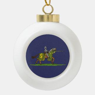 Charging Knight Ceramic Ball Christmas Ornament