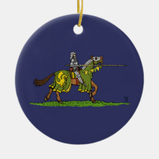 Charging Knight Ceramic Ornament