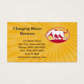 Charging Rhino Brewery Business card