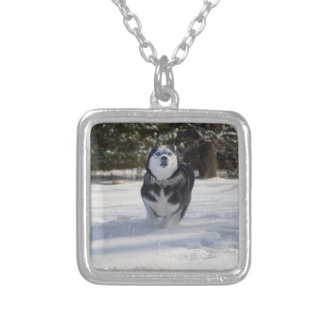 Charging Throught Square Pendant Necklace