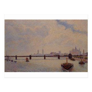 Charing Cross Bridge, London by Camille Pissarro Postcard