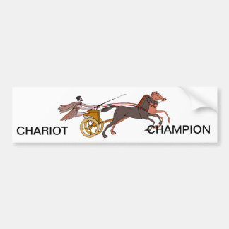 Chariot Champion Bumper Sticker