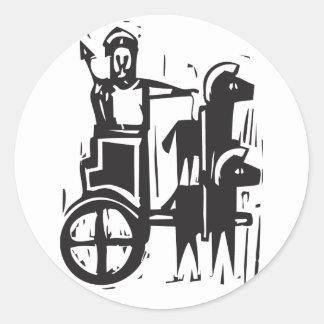 Chariot Classic Round Sticker