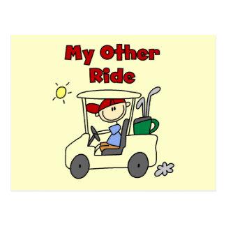 Chariot de golf autre T-shirts et cadeaux de tour Carte Postale