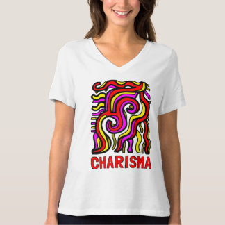"""""""Charisma"""" Women's Relaxed Fit V-Neck T-Shirt"""