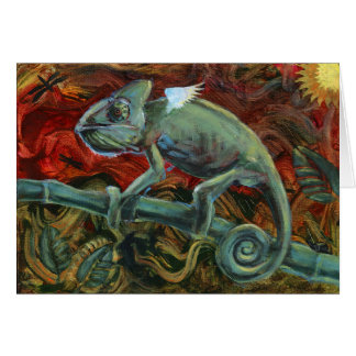 Charismatic Chameleon Greeting Card