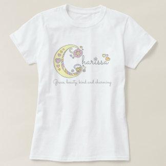 Charissa girls name decorative custom meaning T-Shirt
