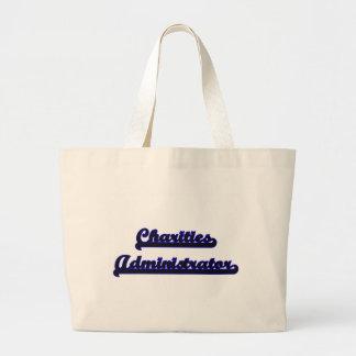 Charities Administrator Classic Job Design Jumbo Tote Bag