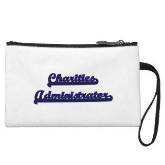 Charities Administrator Classic Job Design Wristlet Purses