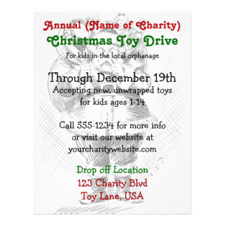 Charity Annual Christmas Toy Drive Santa Claus Flyer