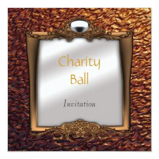 """Charity Ball Invitation 5.25"""" Square Invitation Card"""