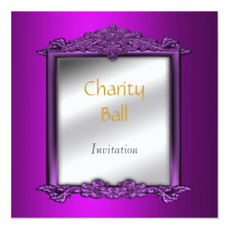 """Charity Ball Mauve Invitation 5.25"""" Square Invitation Card"""