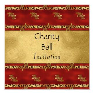 "Charity Ball or Any Occasion Invitation 5.25"" Square Invitation Card"