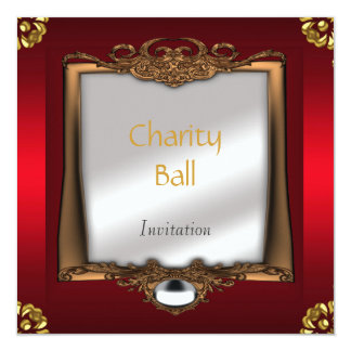 Charity Ball Red Invitation