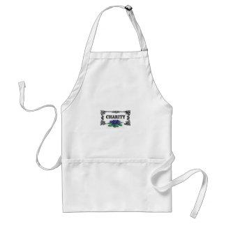 charity blue flowers standard apron