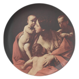 Charity by Guido Reni Plates