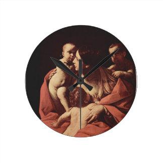 Charity by Guido Reni Wall Clocks