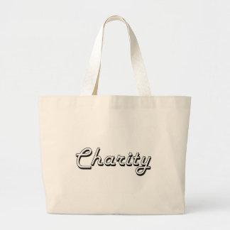 Charity Classic Retro Name Design Jumbo Tote Bag