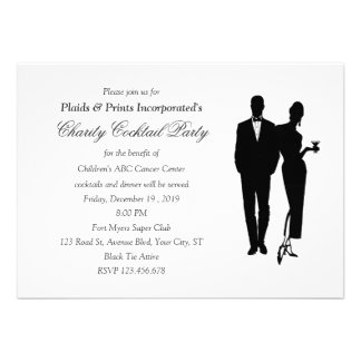 Charity Dinner Black Tie Event Custom Announcements
