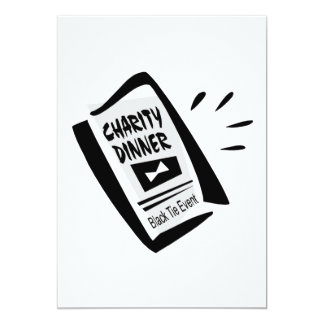 Charity Dinner 5x7 Paper Invitation Card