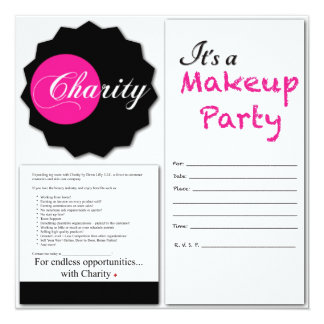 Charity  Makeup Party Invitations