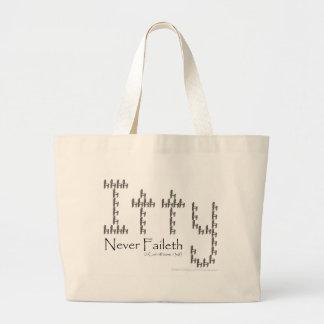 Charity Never Faileth Canvas Bags