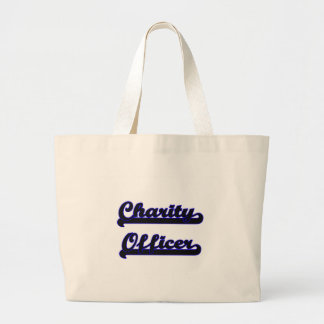 Charity Officer Classic Job Design Jumbo Tote Bag