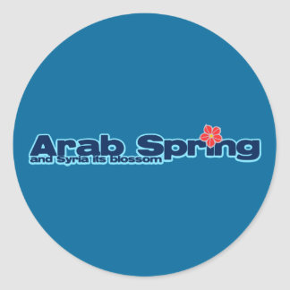 Charity project: Syria Revolution Arab Spring Round Sticker