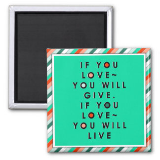 charity quote magnet